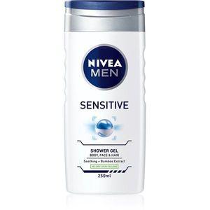 Nivea Men Sensitive tusfürdő gél arcra, testre és hajra 250 ml kép