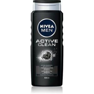 Nivea Men Active Clean tusfürdő gél arcra, testre és hajra uraknak 500 ml kép