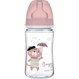 Canpol babies Bonjour Paris cumisüveg 3m+ Pink 240 ml kép