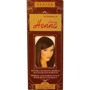 Színező Balzsam Henna Kivonattal Henna Sonia, Nr.113 Világos Barna 75 ml kép