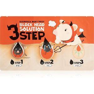 Elizavecca Milky Piggy 3 Step Black Head Solution három fázisú ápolás a fekete pontokra kép